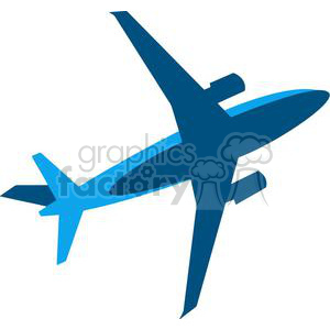 Blue Airplane clipart. Royalty-free image # 379691
