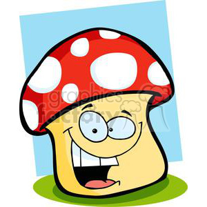 Smiling Mushroom Character clipart. Commercial use image # 379706