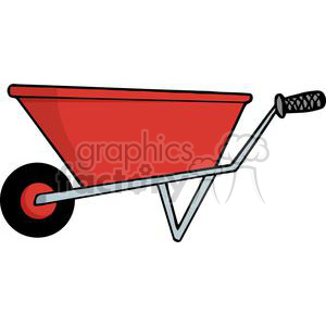 Red wheel barrow clipart. Commercial use image # 379721