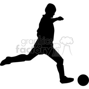 Silhouette of soccer ball player