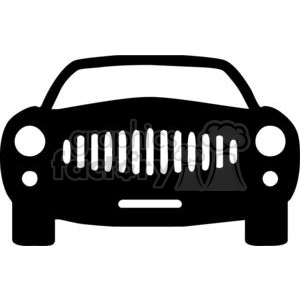 Front of a car Silhouettes clipart. Commercial use image # 379751