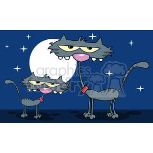 2613-Royalty-Free-Cute-Gray-Kitten-Father-In-The-Night clipart. Royalty-free image # 379756