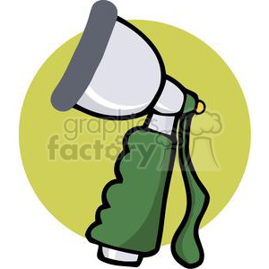 Garden hose spray attachment clipart. Commercial use image # 379761
