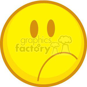 Sad Emoticon clipart. Royalty-free image # 379786