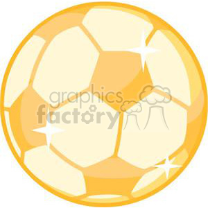 2544-Royalty-Free-Gold-Soccer-Ball clipart. Royalty-free image # 379801