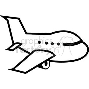 royalty free royalty free airplane flying 379826 vector clip art rh graphicsfactory com free clipart airplane ticket free airplane clipart images