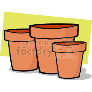 flower pots clipart. Commercial use image # 379836