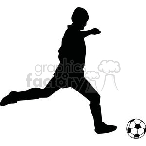 2535-Royalty-Free-Silhouette-Soccer-Player-With-Ball clipart. Royalty-free image # 379876