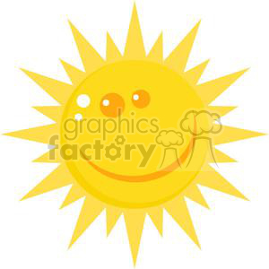 Smiling sun character clipart. Commercial use image # 379886