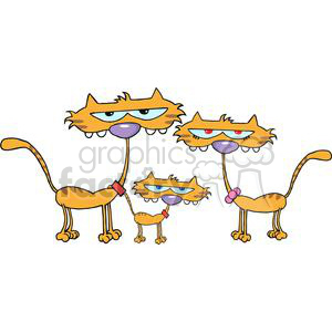 Three Cats clipart. Royalty-free image # 379901
