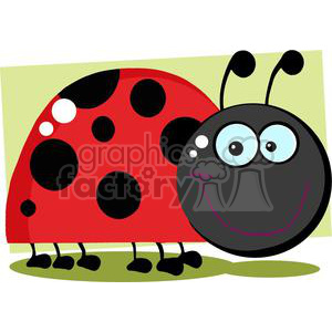 cartoon funny comical vector bug bugs lady ladybug ladybugs