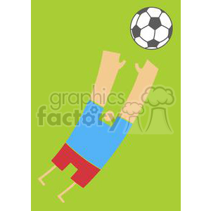2512-Royalty-Free-Abstract-Soccer-Player-With-Balll clipart. Royalty-free image # 379926