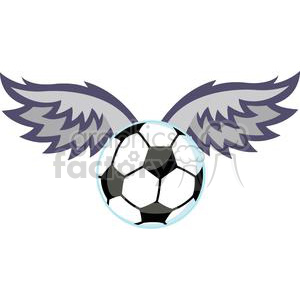 2557-Royalty-Free-Soccer-Ball-With-Wings clipart. Royalty-free image # 379951