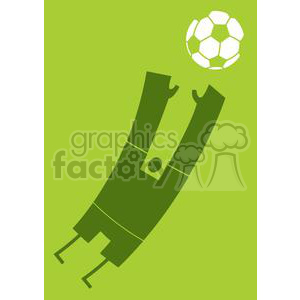 2517-Royalty-Free-Abstract-Silhouette-Soccer-Player-With-Balll clipart. Royalty-free image # 379956