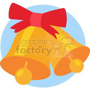 Gold Christmas bells clipart. Royalty-free image # 380001