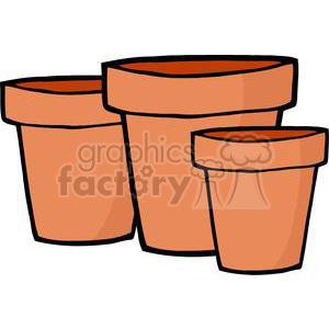 cartoon funny comical vector gardening garden tools landscaping flower pots