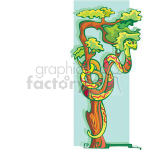 snake in a tree clipart. Royalty-free image # 380028