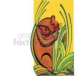 little animal eating grass clipart. Royalty-free image # 380058