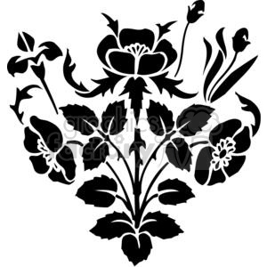 05-flowers-bw clipart. Royalty-free image # 380118
