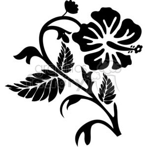 hibiscus drawing clipart. Commercial use image # 380123