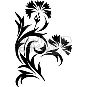 02-flowers-bw clipart. Royalty-free image # 380143