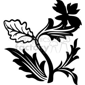 vinyl-ready vector black white flower flowers floral nature organic design designs elements