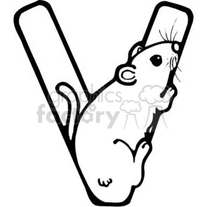 Letter V Vole Rodent clipart. Royalty-free image # 380168