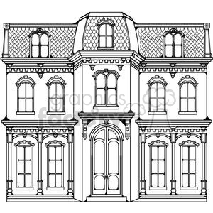 victorian home clipart. Commercial use image # 380183