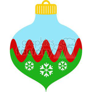Christmas ornament with snowflakes clipart. Commercial use image # 381021