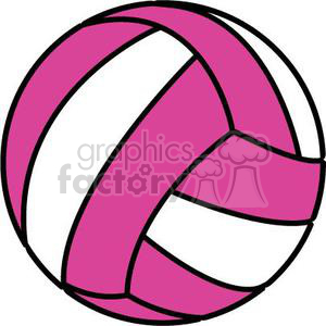 volleyball pink and white clipart. Royalty-free image # 381173