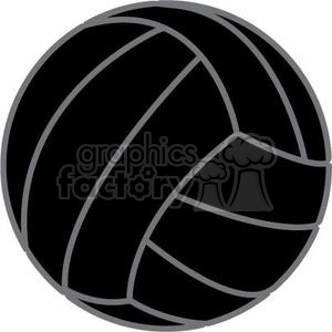 black volleyball clipart. Royalty-free image # 381180