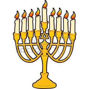 Menorah clipart. Commercial use image # 381489
