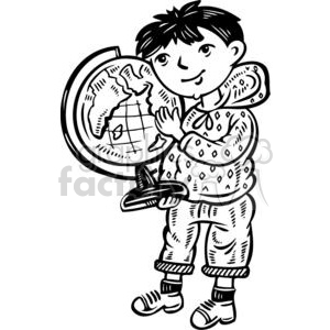 child holding a globe clipart. Royalty-free image # 381494