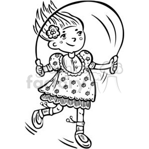 girl jumping rope clipart. Commercial use image # 381509