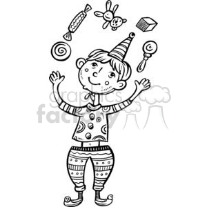 boy juggling cartoon clipart. Commercial use image # 381529