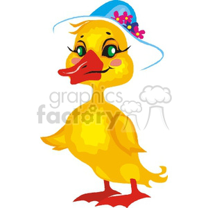 Brown duck with red neck in mid-flight clipart. Royalty-free image # 130361