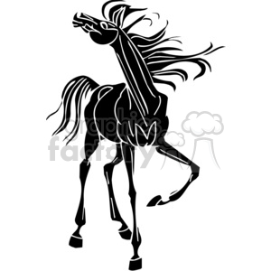 wild horse clipart. Commercial use image # 383656