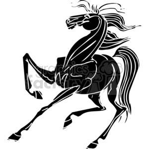 scared horse design clipart. Commercial use image # 383671
