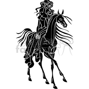 graceful horse design clipart. Royalty-free image # 383676