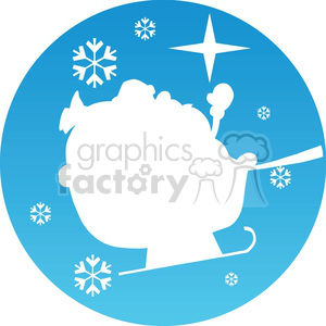 Christmas sleigh icon clipart. Royalty-free image # 383688