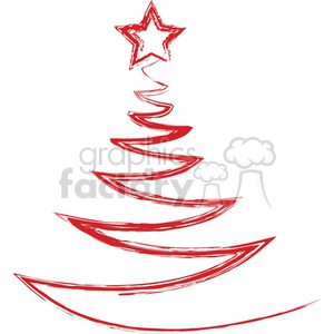 Christmas+tree Holidays vector Xmas red sketch