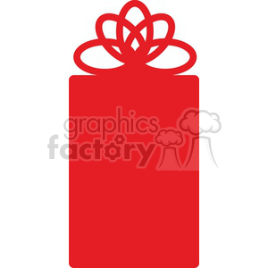 skinny Christmas gift icon clipart. Royalty-free image # 383703