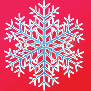 vector snowflake on red clipart. Royalty-free icon # 383718