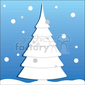 winter Christmas tree design clipart. Royalty-free image # 383723