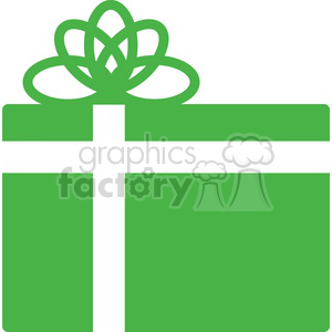 green Christmas gift clipart. Royalty-free icon # 383728