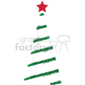 Christmas tree logo clipart. Royalty-free image # 383733