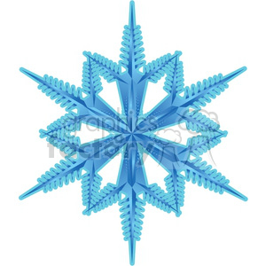 frozen snowflake clipart. Royalty-free icon # 383738