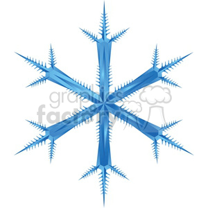 fancy vector snowflake clipart. Royalty-free image # 383743