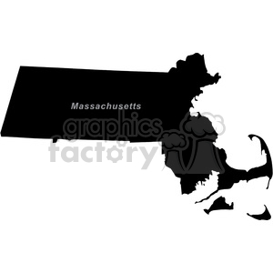 USA United States black white vector outline America MA Massachusetts