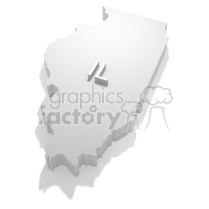 Illinois-IL clipart. Commercial use image # 383812
